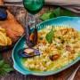 Risotto con cozze e fiori di zucca ricetta veloce con frutti di mare