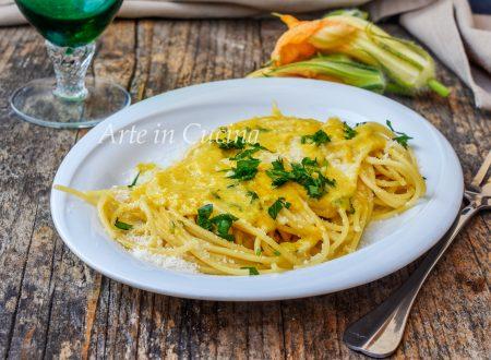 Spaghetti alla crema di fiori di zucca