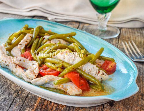 Straccetti di pollo e fagiolini ricetta leggera