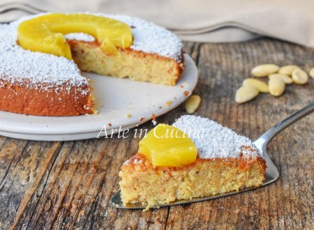 Torta caprese all'ananas dolce veloce senza farina