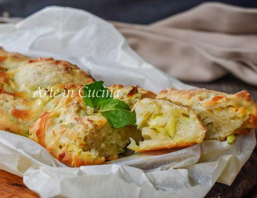 Treccia rustica di zucchine e formaggio veloce