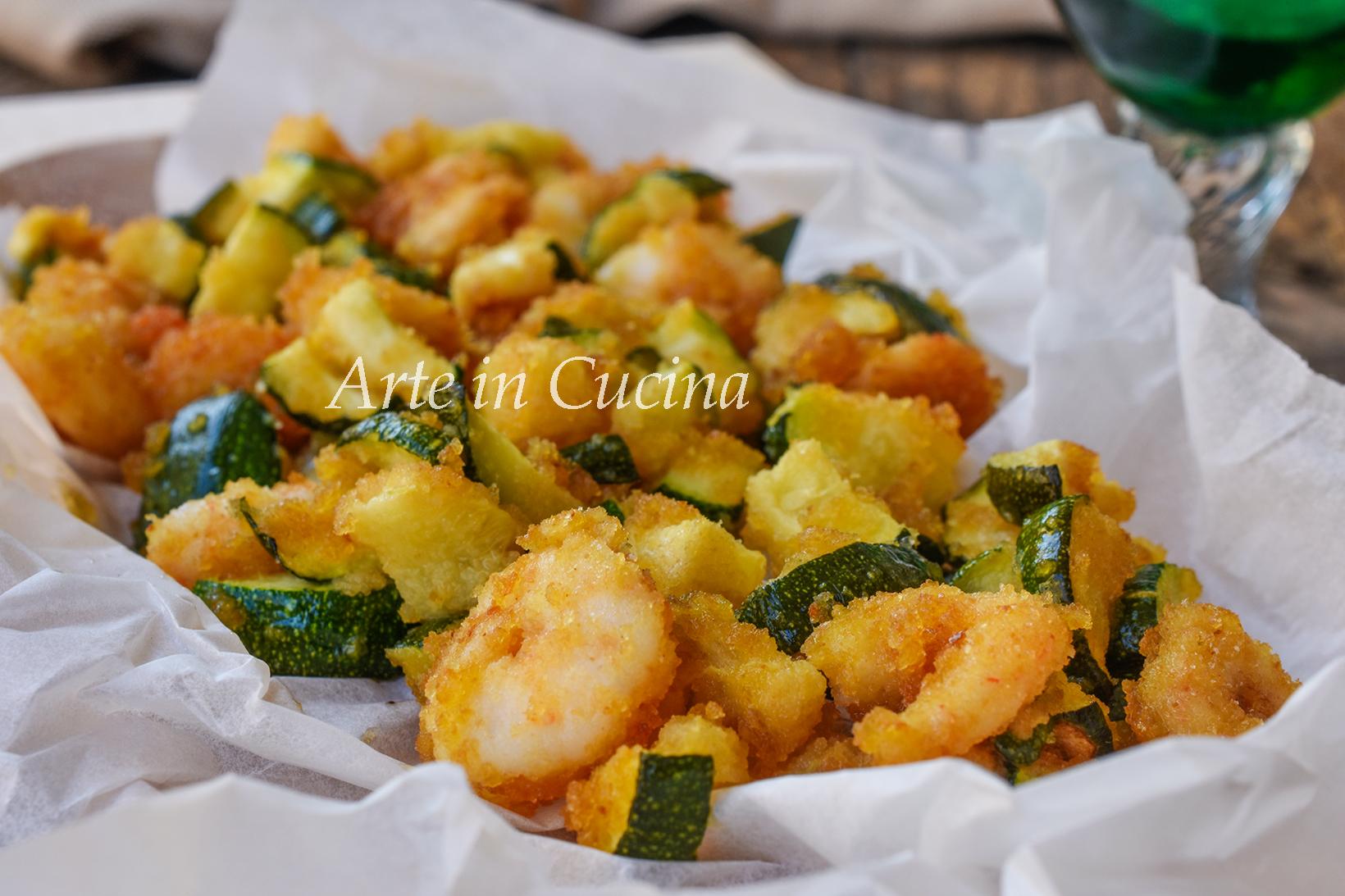 Zucchine e gamberetti gratinati in padella ricetta facile e veloce