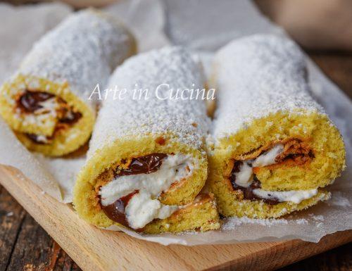 Cannoli con crema paradiso e nutella