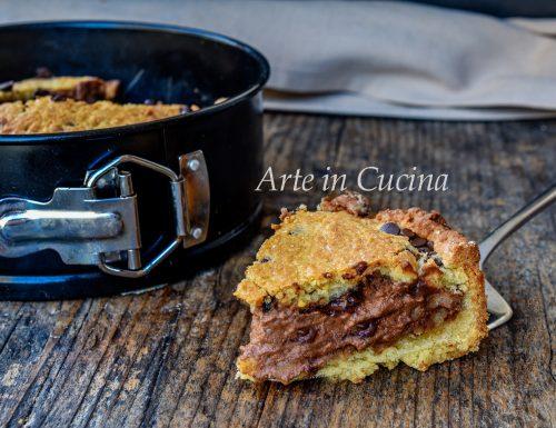 Crostata cookie alla nutella e cioccolato
