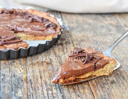 Crostata integrale senza burro con cioccolato