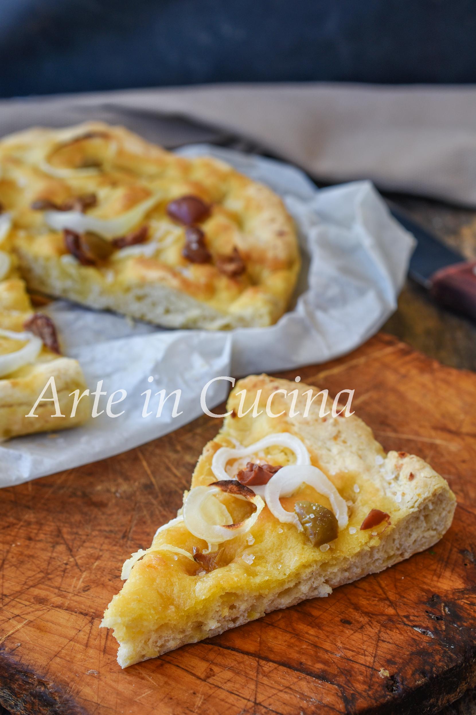 Focaccia morbida con patate veloce