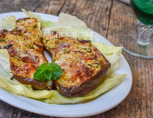 Melanzane ripiene di zucchine in padella