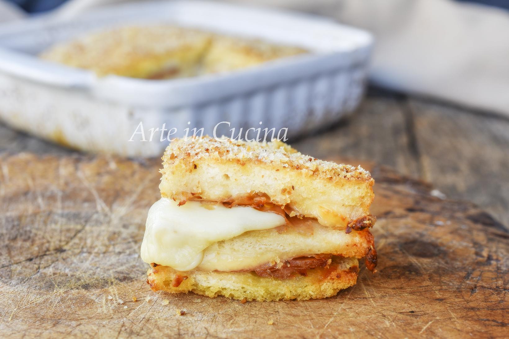 Millefoglie di pancarrè con mortadella e formaggio
