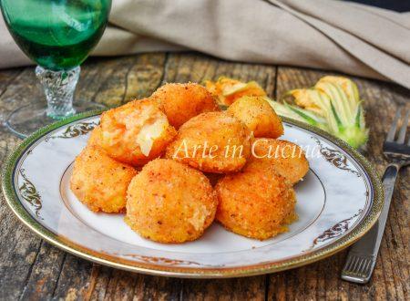 Polpette di zucca e patate al formaggio