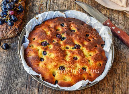 Torta bertolina all'uva fragola dolce facile