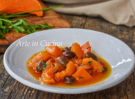 Zucca con olive in padella ricetta veloce
