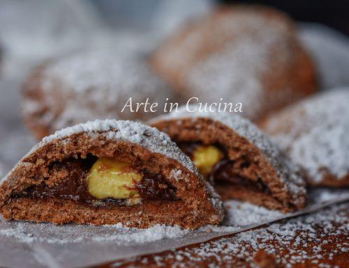 Biscotti nutella e cioccolato bianco