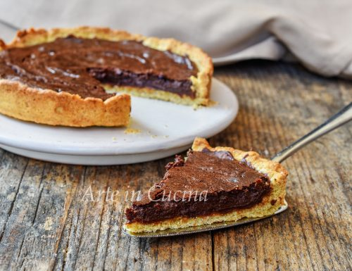 Crostata di castagne con ricotta e cioccolato