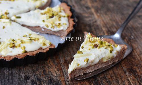 Crostata al pistacchio e cioccolato bianco