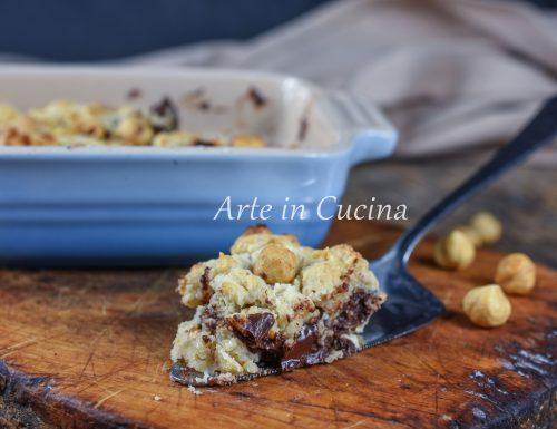 Crumble Nutella e cioccolato dolce veloce