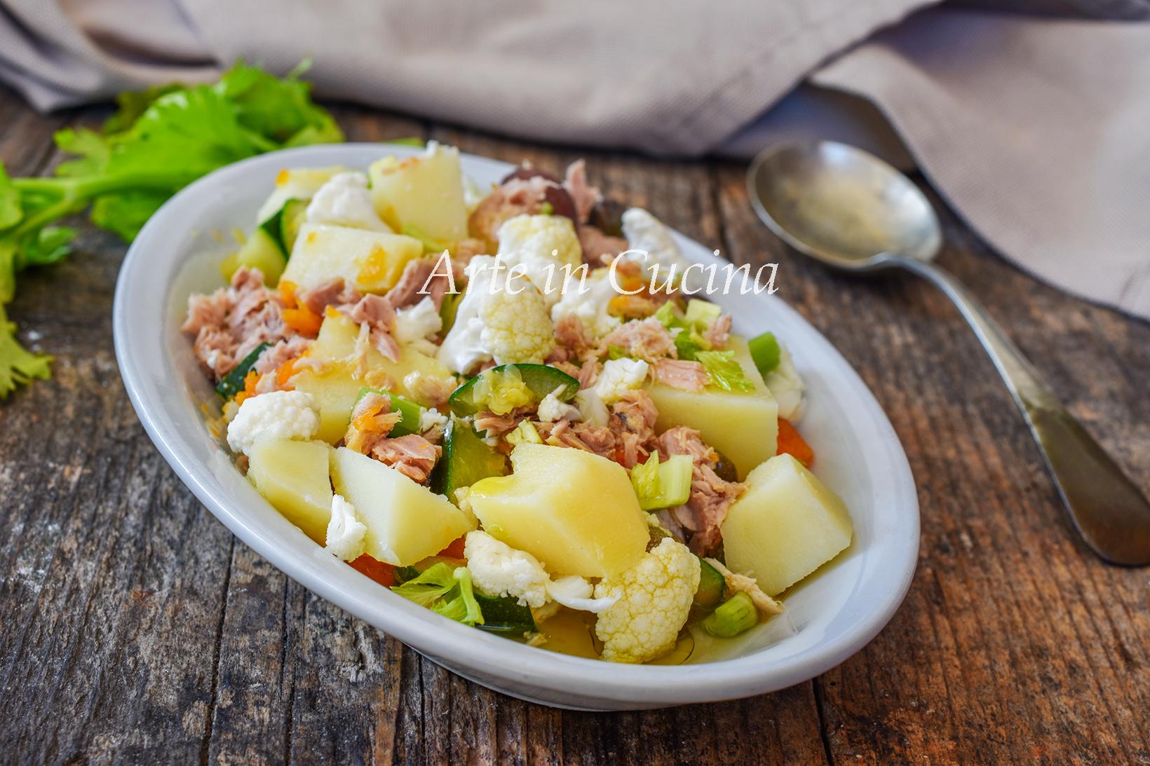 Insalata tiepida di patate e verdure