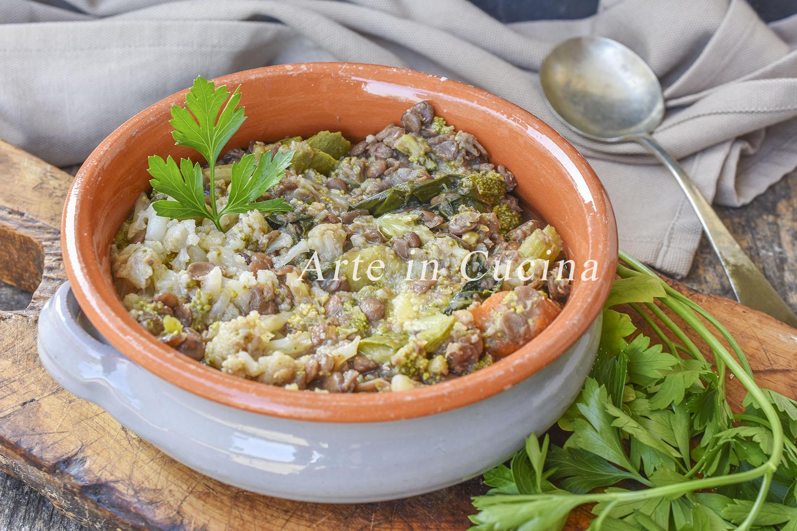 ricetta lenticchie con verdure per la dieta