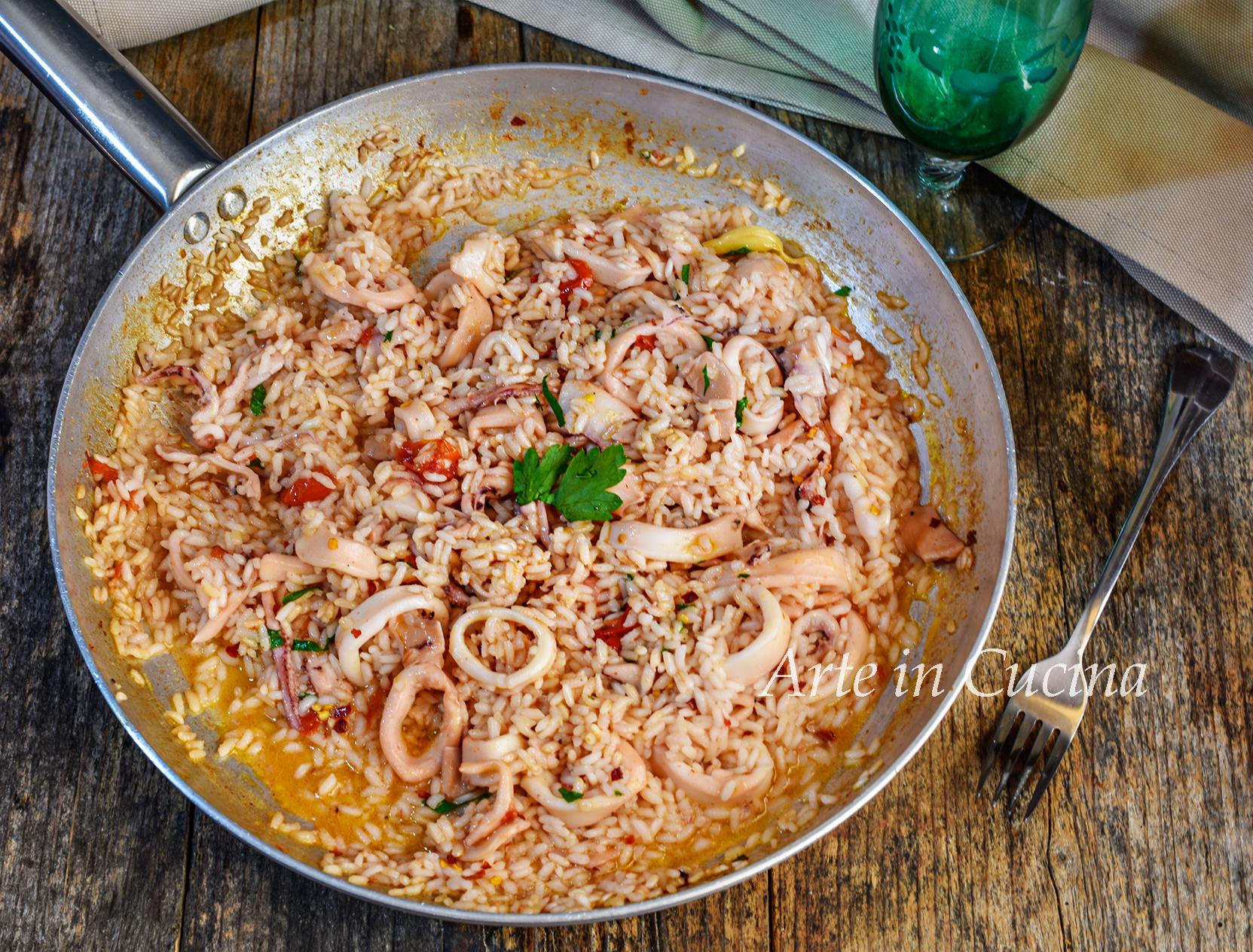 Risotto ai calamari ricetta veloce