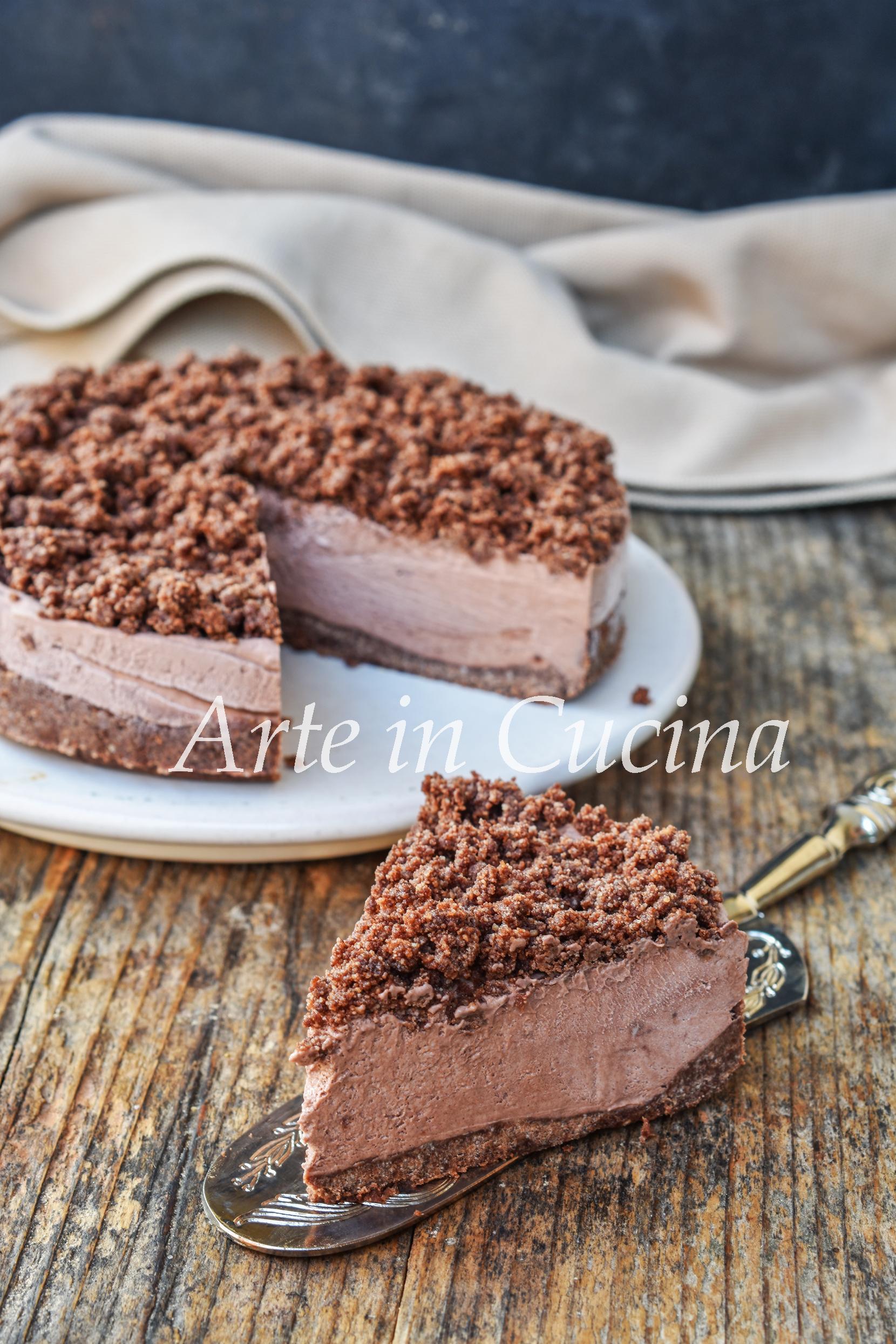 Sbriciolata ricotta e cioccolato dolce veloce