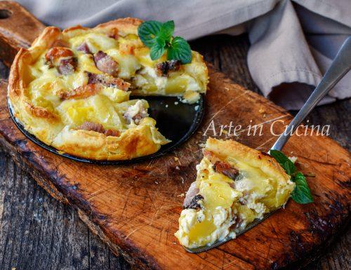 Torta di sfoglia patate e pancetta