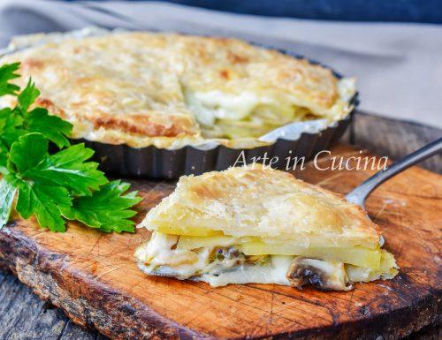 Torta sfogliata con patate e funghi ricetta veloce