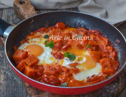 Uova con zucca e pomodoro ricetta veloce
