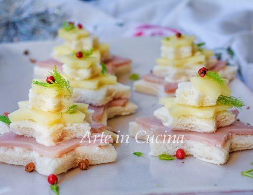 Alberelli di pancarrè tartine natalizie fredde