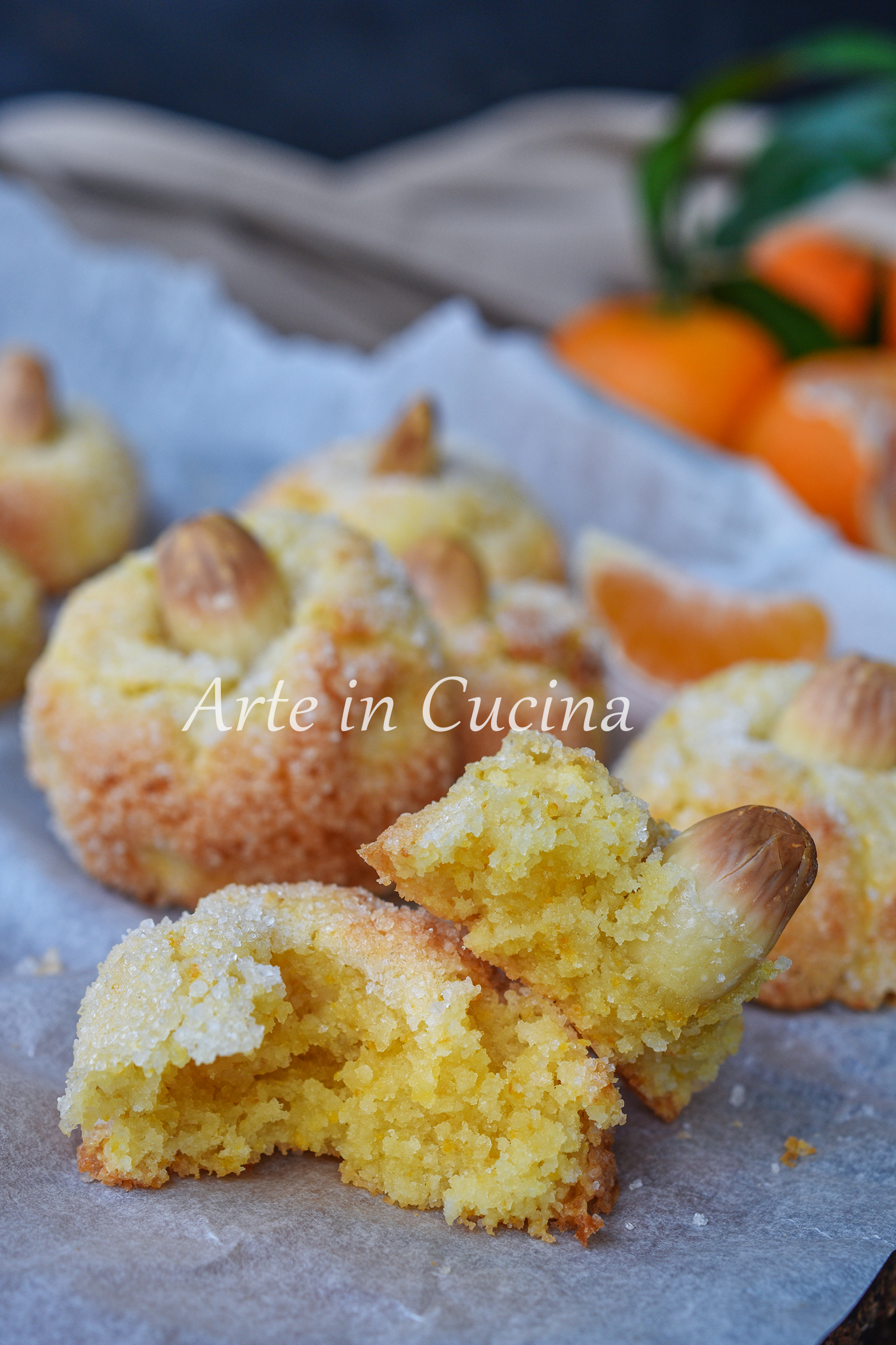 Amaretti alle clementine dolcetti veloci