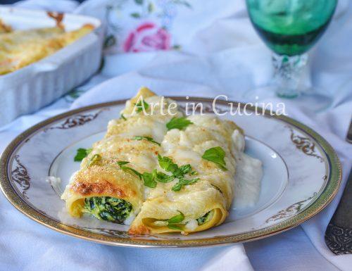 Cannoli di crepes ricotta e spinaci