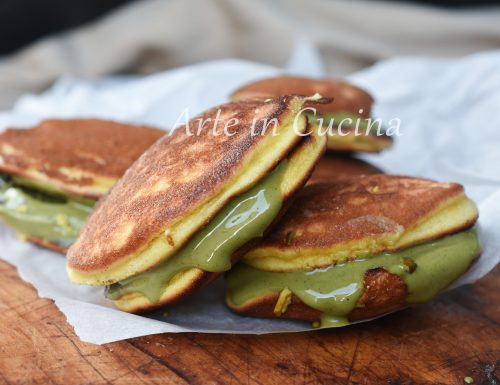 Dorayaki al pistacchio dolcetti veloci