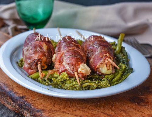 Spiedini di carne macinata e pancetta