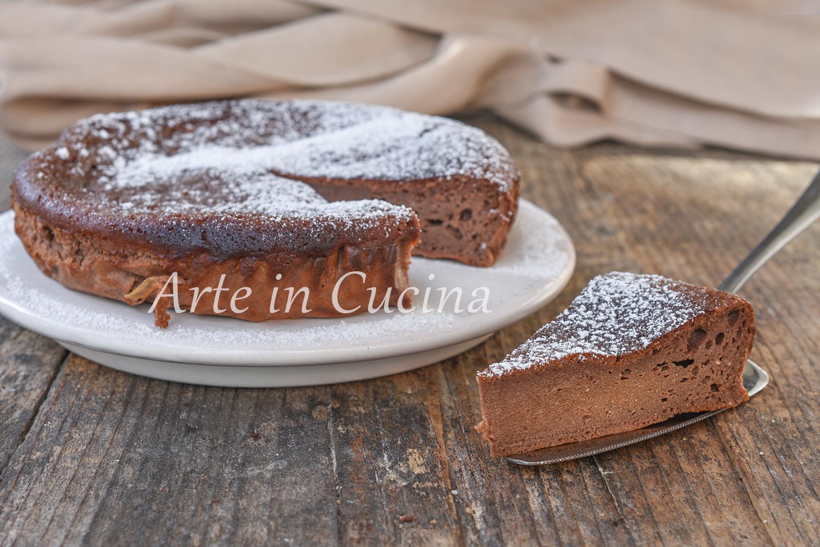 Torta ricotta e cacao con farina di riso dolce veloce