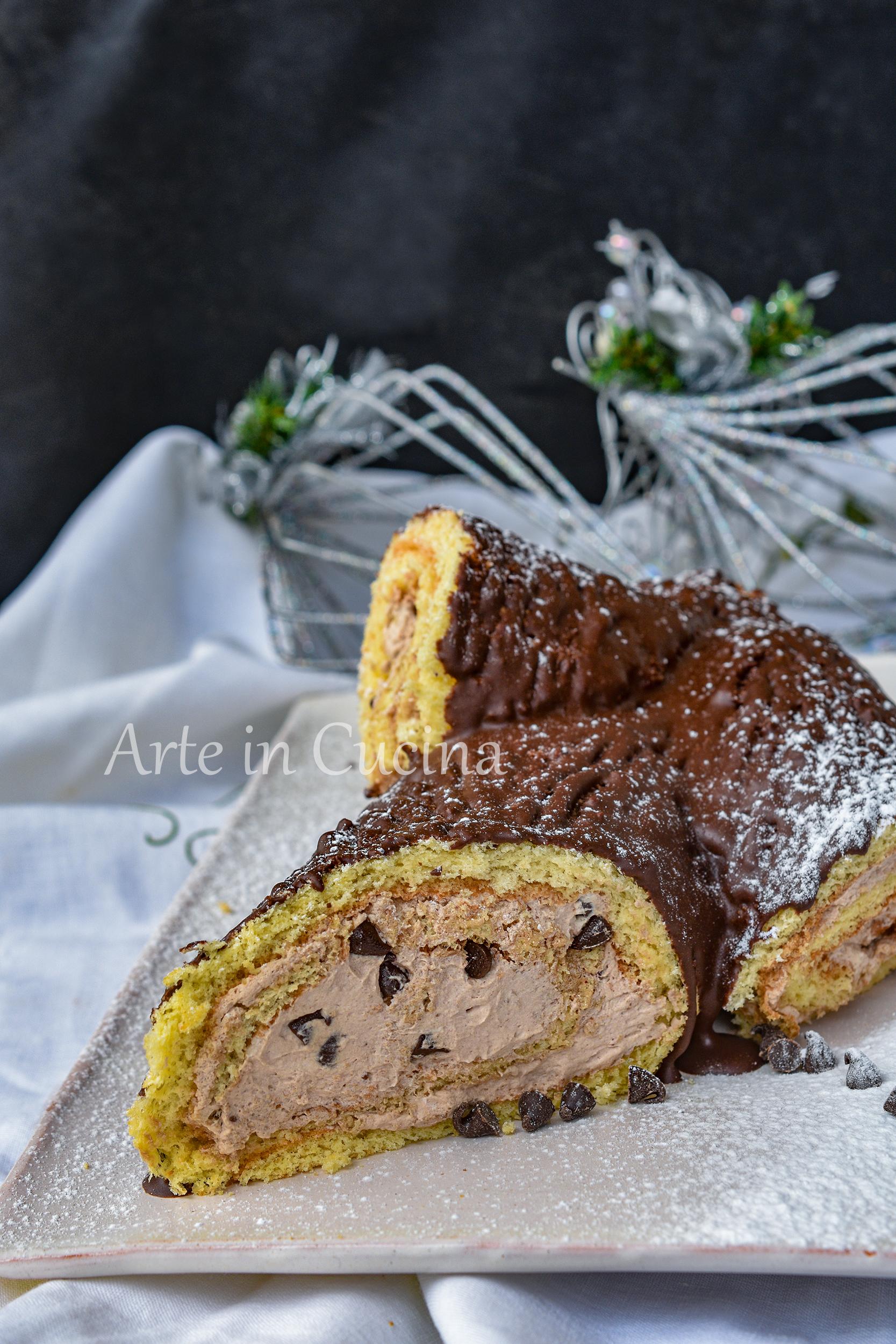 Tronchetto di Natale al cioccolato dolce facile
