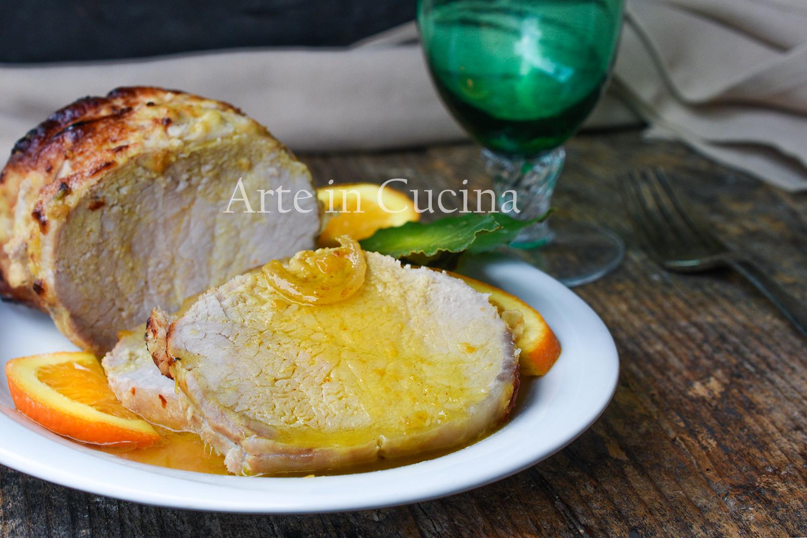 Arista all'arancia con salsa secondo raffinato