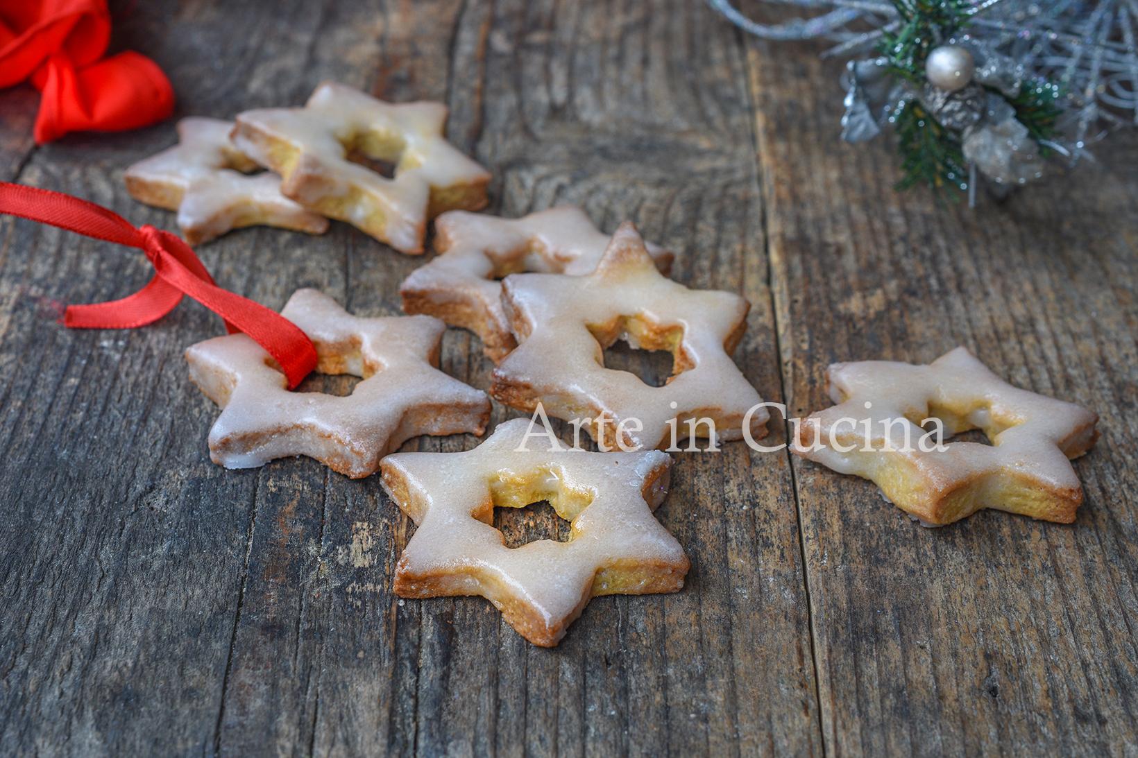 Biscotti al mandarino stelline di Natale