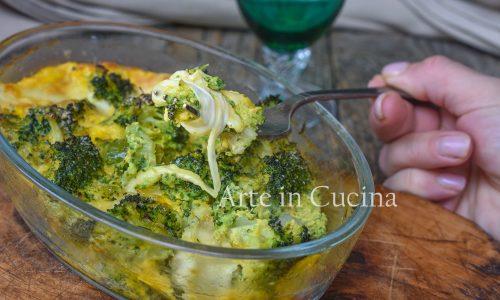 Broccoli al forno con formaggio