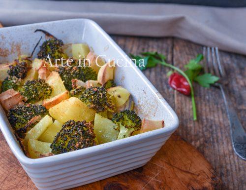 Broccoli con patate al forno gratinati