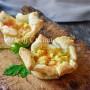 Cestini con patate e salmone in sfoglia