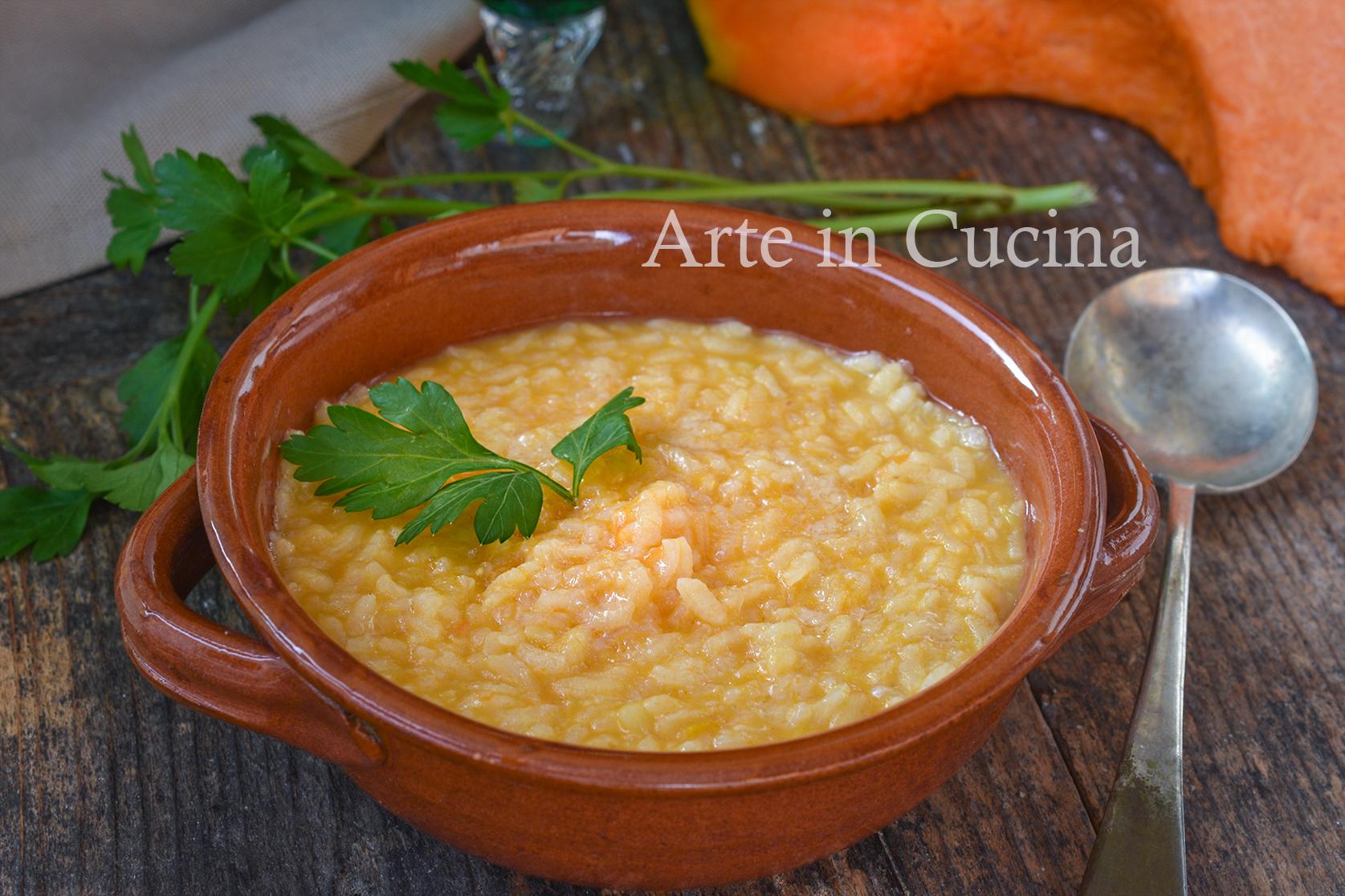 Risotto cremoso con zucca e patate