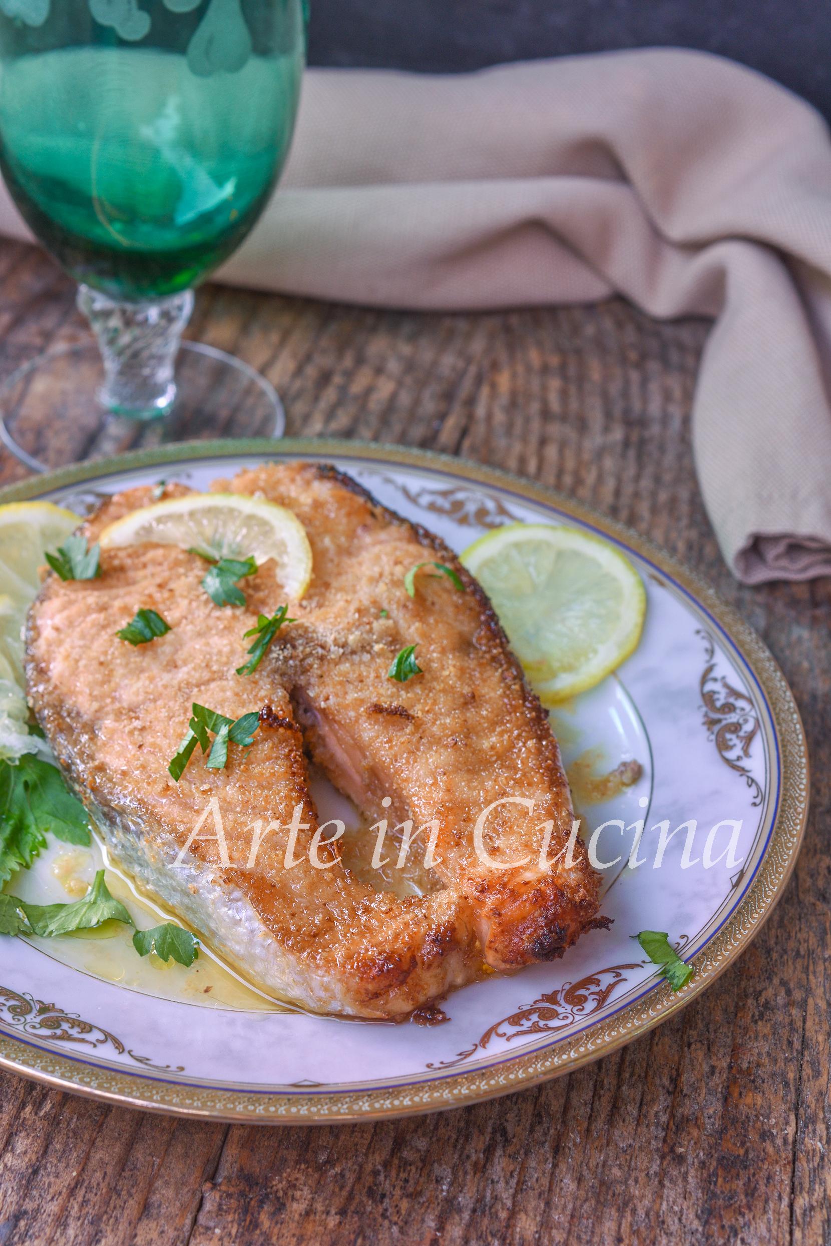 Salmone gratinato al forno con limone