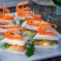 Tartine con salmone veloci