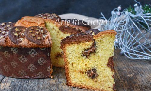 Torta panettone pan di stelle e nutella