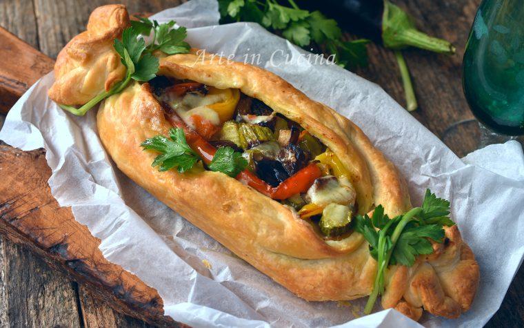 Caramella di sfoglia con verdure