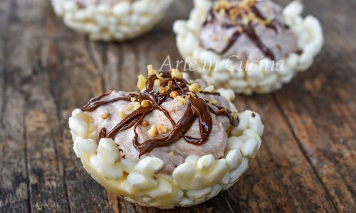 Cestini di riso soffiato con Nutella