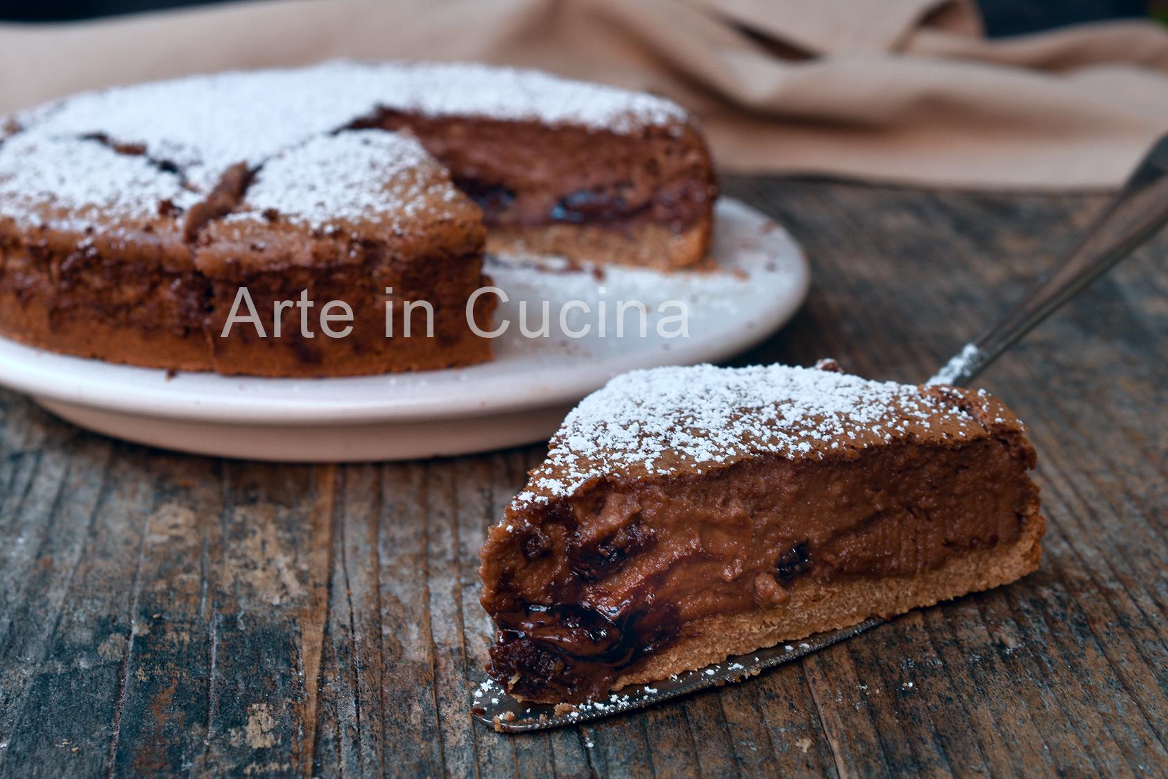 Cheesecake al forno alla nutella