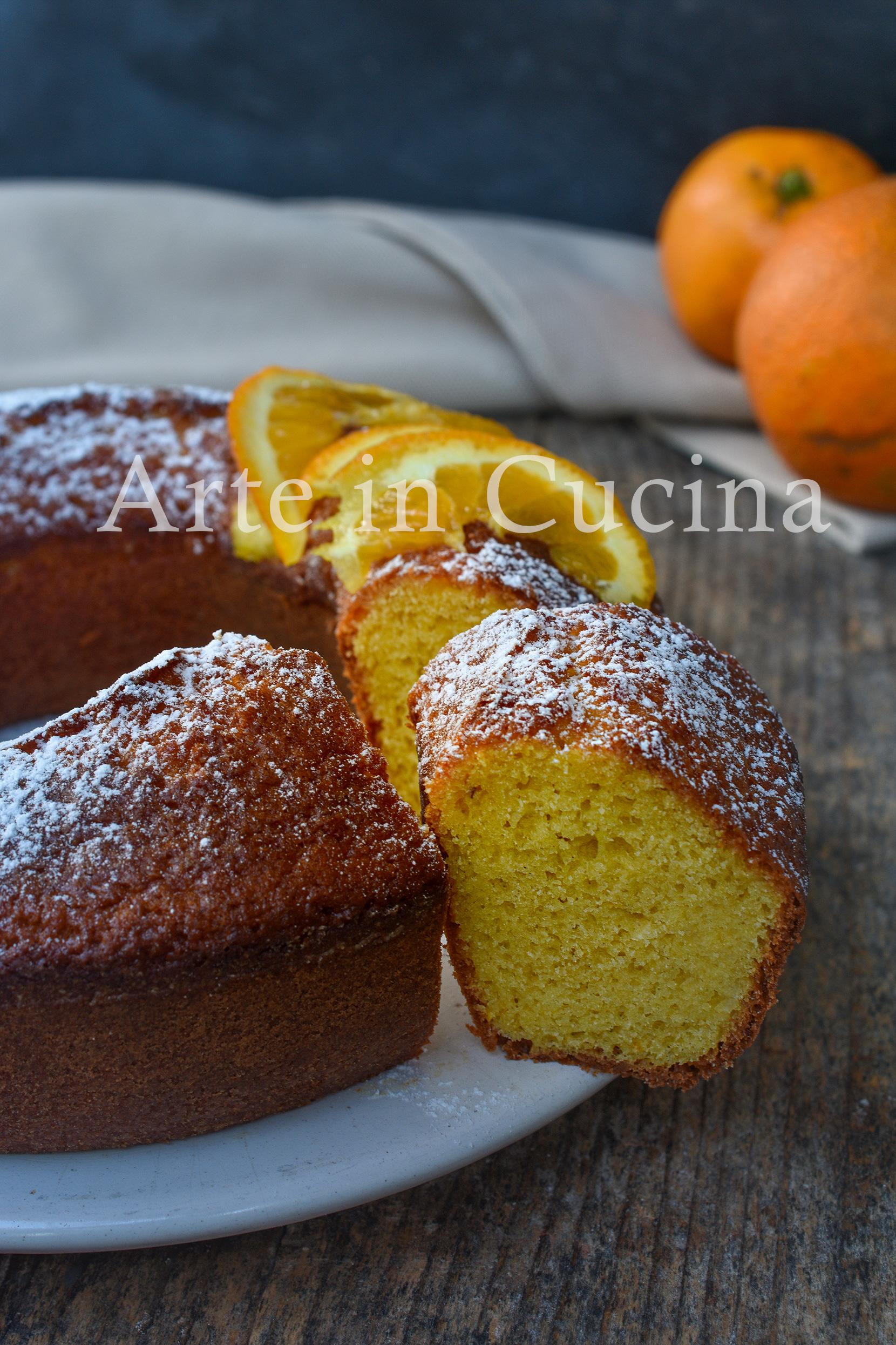 Ciambella pan d'arancio con bimby o senza