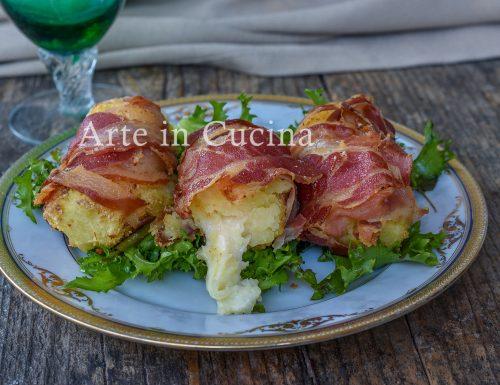 Involtini di patate e pancetta al forno