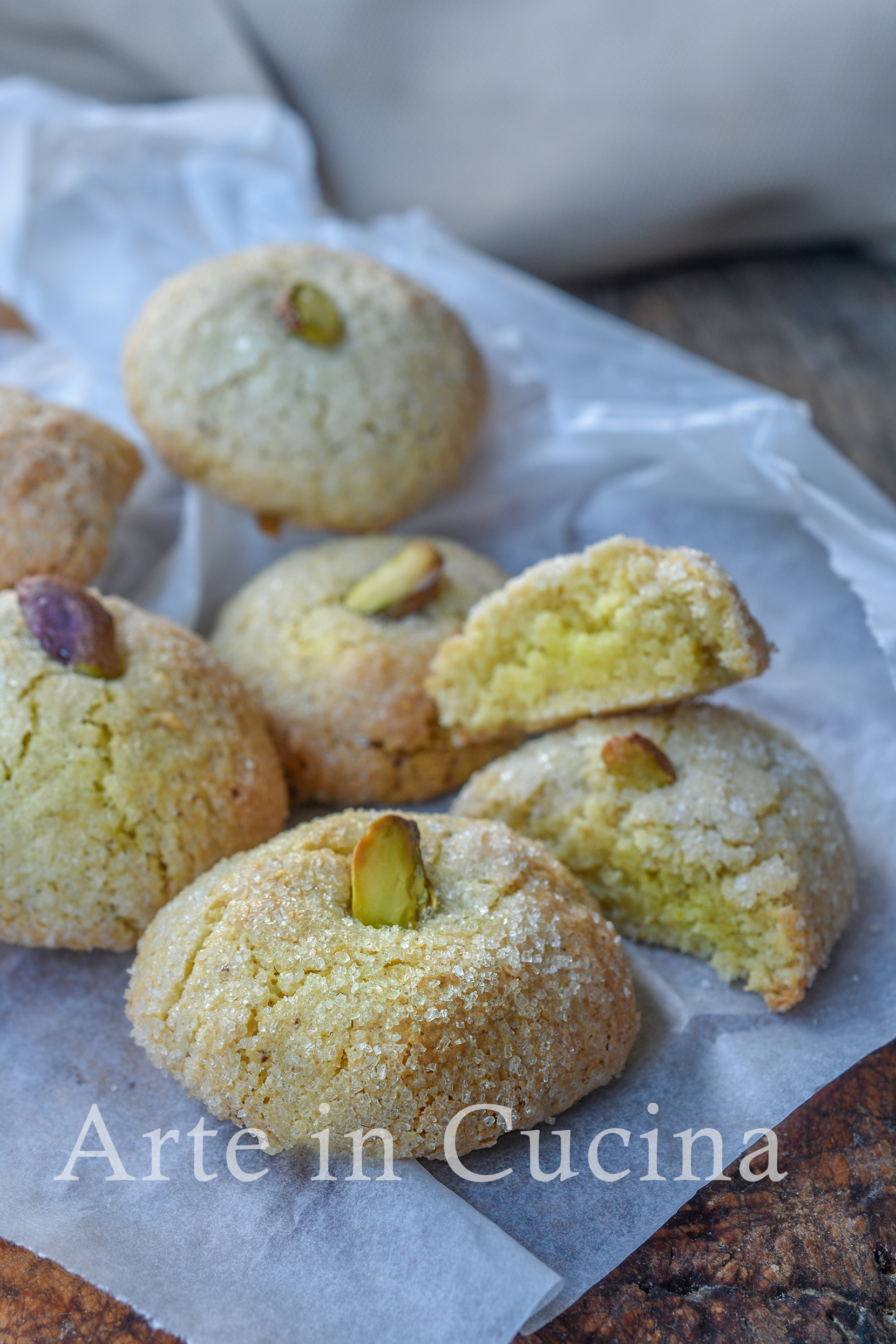 Pasticcini al pistacchio dolcetti veloci