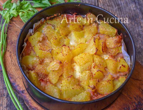 Sbriciolata di patate gratinata con prosciutto