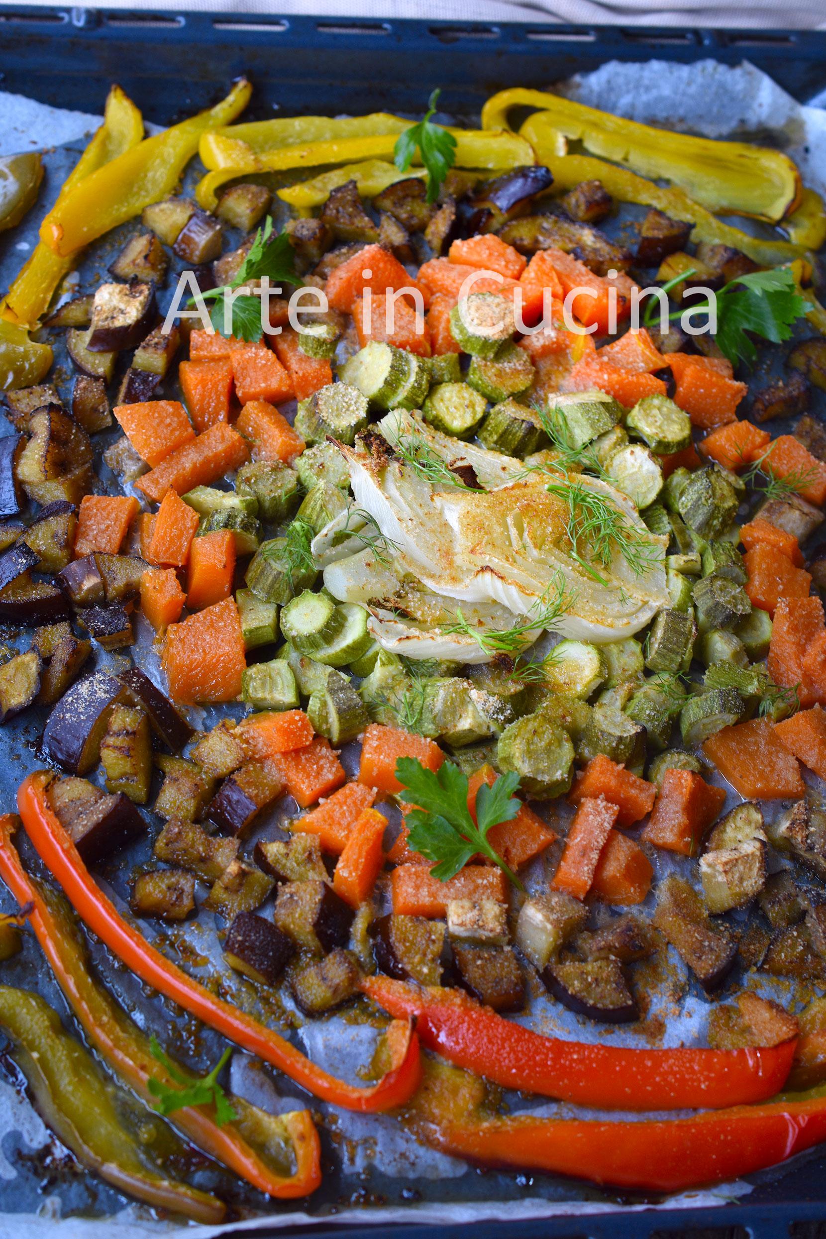 Verdure gratinate in teglia al forno